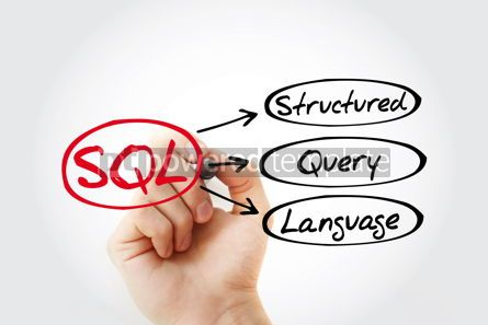 Business: SQL - Structured Query Language acronym with marker technology #14786