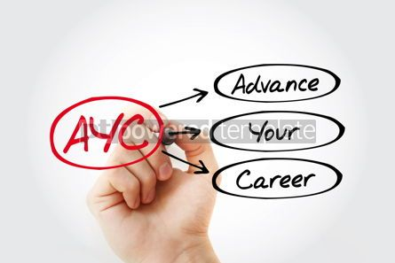 Business: AYC - Advance Your Career acronym business concept background #14787