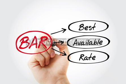 Business: BAR - Best Available Rate acronym business concept background #14790