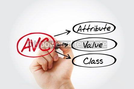 Business: AVC - Attribute Value Class acronym with marker concept backgro #14791