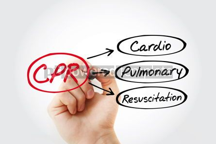 Education: CPR - Cardiopulmonary Resuscitation acronym health concept back #14802