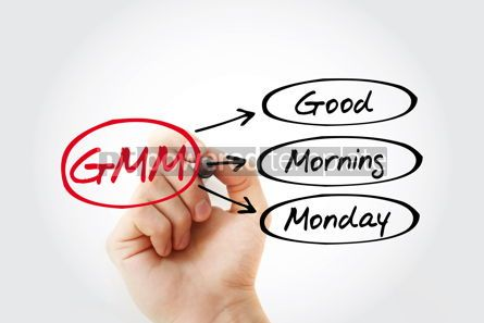 Business: GMM - Good Morning Monday acronym concept background #14808