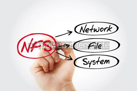 Business: NFS - Network File System acronym with marker technology concep #14811