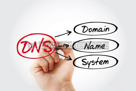 Business: DNS - Domain Name System acronym technology concept background #14813