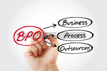 Business: BPO - Business Process Outsourcing acronym concept background #14815
