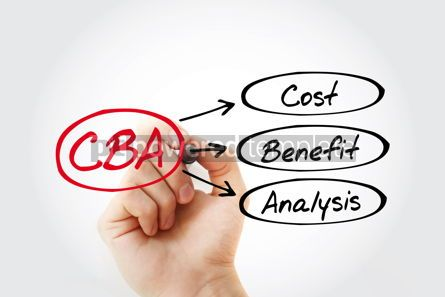 Business: CBA - Cost-benefit Analysis acronym business concept background #14817
