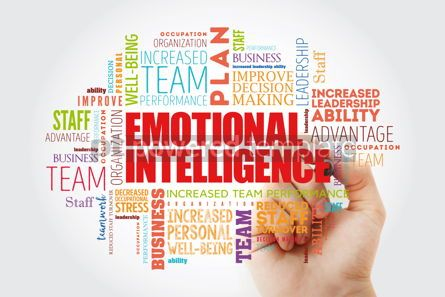 Business: Emotional intelligence word cloud collage business concept back #14828