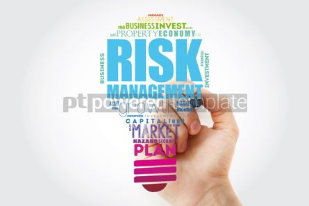 Business: Risk Management light bulb word cloud collage business concept #14834