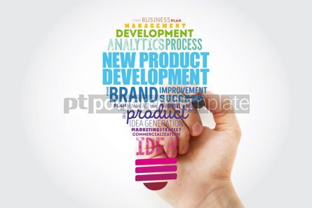 Business: New product development light bulb word cloud collage business #14835