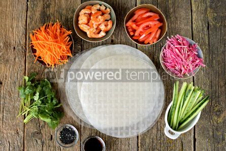 Food & Drink: Ingredients for making spring rolls #14847