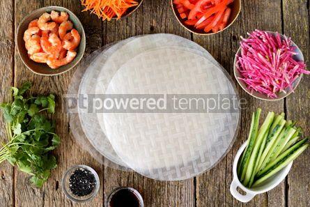 Food & Drink: Ingredients for making spring rolls #14848