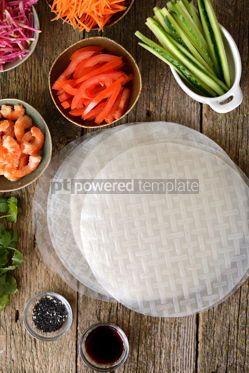 Food & Drink: Ingredients for making spring rolls #14849