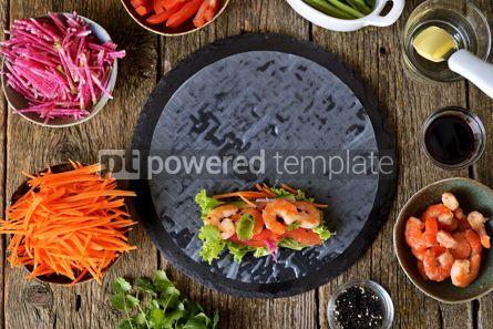 Food & Drink: Ingredients for making spring rolls #14850