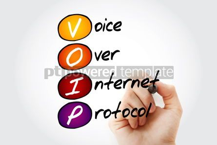 Business: VOIP - Voice over Internet Protocol acronym #15062