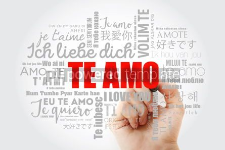 Education: Te amo I Love You in Spanish word cloud #15082