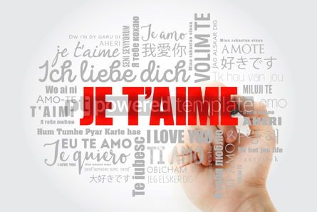 Education: Je t'aime I Love You in French word cloud #15083