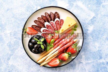 Food & Drink: Antipasti snacks - sausage homemade grissini with jamon #15102