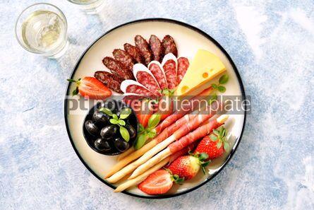 Food & Drink: Antipasti snacks - sausage homemade grissini with jamon #15104