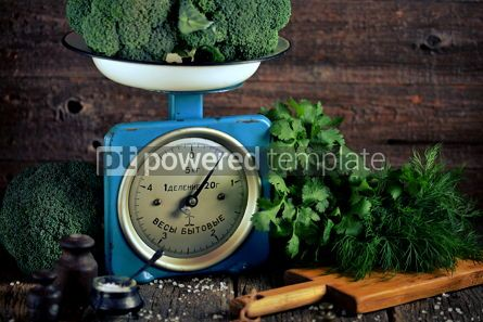 Food & Drink: Healthy organic vegetables on old Soviet mechanical scales #15182
