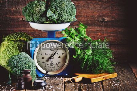 Food & Drink: Healthy organic vegetables on old Soviet mechanical scales #15183