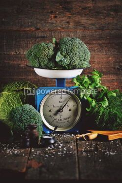 Food & Drink: Healthy organic vegetables on old Soviet mechanical scales #15184