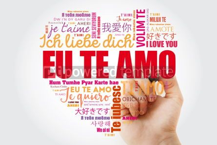 Business: Eu Te Amo I Love You in Portuguese love heart #15255