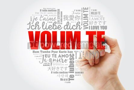 Business: Volim te I Love You in Croatian word cloud #15259