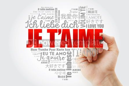 Business: Je t'aime I Love You in French love heart #15263