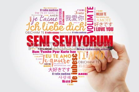 Business: Seni seviyorum I Love You in Turkish love heart #15264