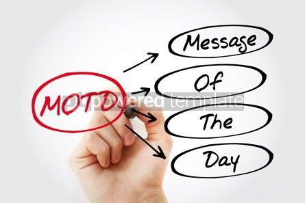 Business: Hand writing MOTD - Message Of The Day #15288