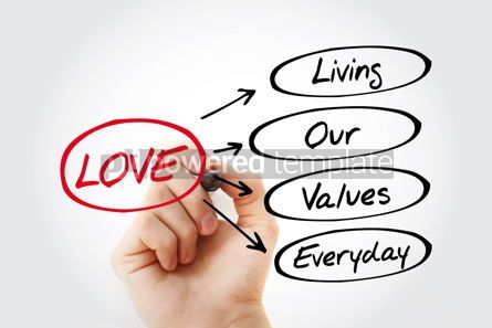 Business: LOVE - Living Our Values Everyday acronym #15300