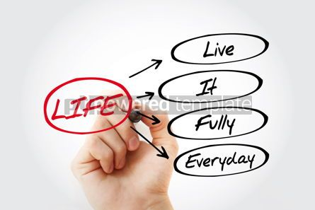 Business: LIFE - Live It Fully Everyday acronym #15304