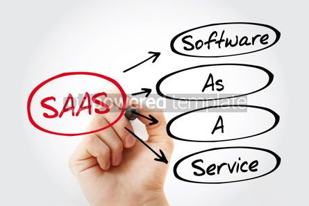 Business: SAAS - Software As A Service acronym #15309