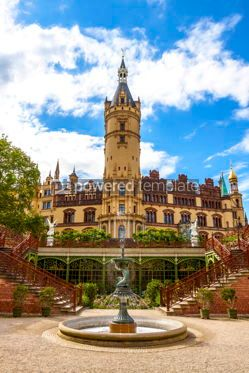 Arts & Entertainment: Schwerin Castle Schweriner Schloss in Schwerin Germany #15322