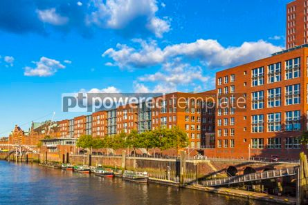 Arts & Entertainment: Speicherstadt warehouse district in Hamburg city Germany #15323