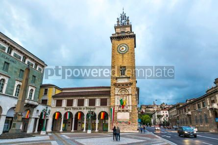 Arts & Entertainment: Torre dei Caduti on Piazza Vittorio Veneto in Bergamo Italy #15330