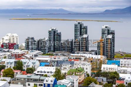 Arts & Entertainment: Aerial view of Reykjavik city Iceland #15332