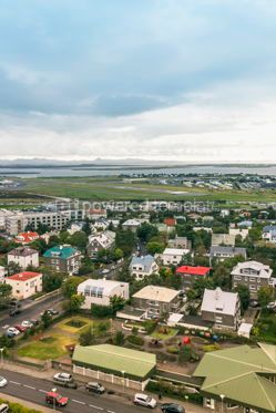 Arts & Entertainment: Aerial view of Reykjavik city Iceland #15333