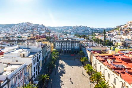 Architecture : Panoramic view of Las Palmas de Gran Canaria Spain #15344