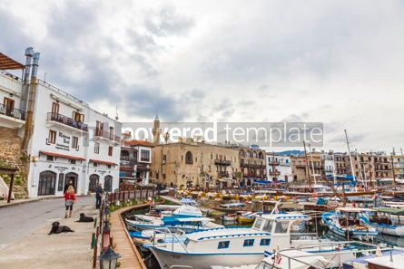Architecture : Kyrenia Girne old harbour Northern Cyprus #15349
