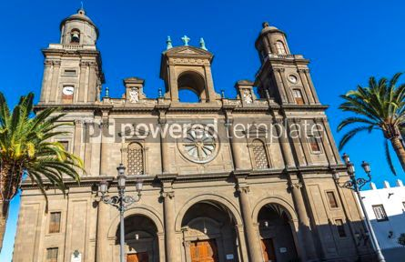Architecture : Cathedral of Santa Ana in Las Palmas de Gran Canaria Spain #15350