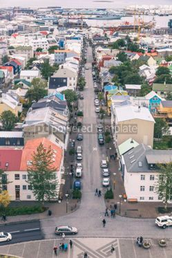 Architecture : Aerial view of Reykjavik city Iceland #15353