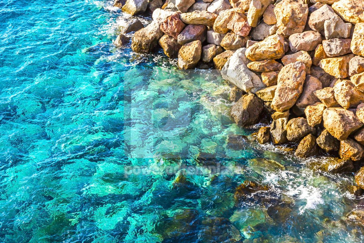 Background made of clear azure sea water, 15412, Nature — PoweredTemplate.com