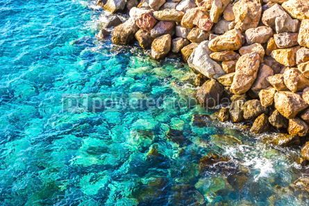 Nature: Background made of clear azure sea water #15412