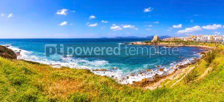 Nature: Panoramic view of seacoast in Alghero Sardinia Italy #15424