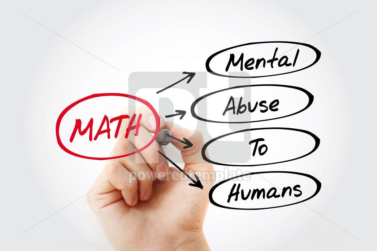 MATH - Mental Abuse To Humans acronym, 15456, Education — PoweredTemplate.com