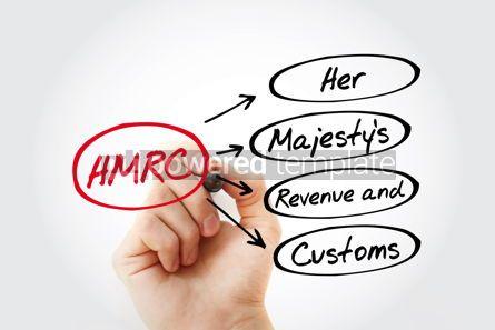Business: HMRC - Her Majesty's Revenue and Customs acronym with marker bu #15458