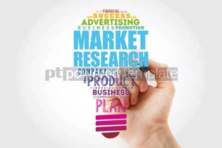 Business: Market research light bulb word cloud business concept backgrou #15464