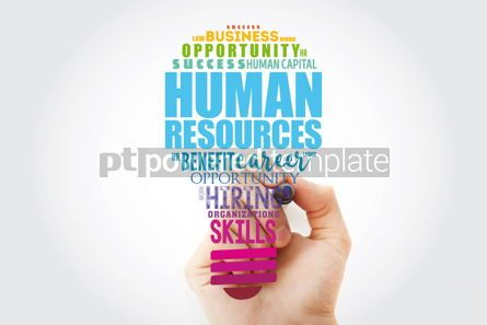 Business: HR - Human Resources light bulb word cloud collage business con #15468