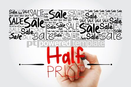 Business: HALF PRICE Sale word cloud collage business concept background #15473
